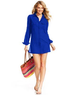 Lauren Ralph Lauren Semi-Sheer Tunic C..