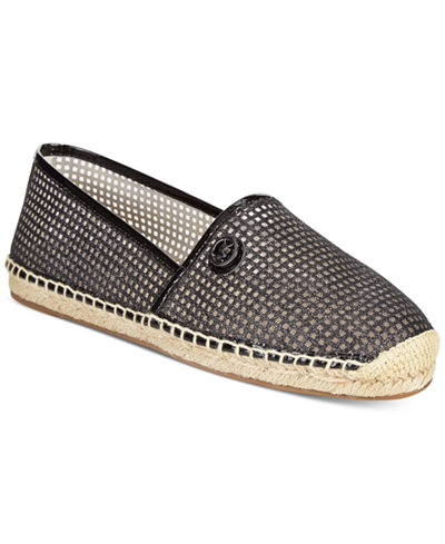 michael michael kors kendrick slip on espadrille flats flats shoes macy 39 s. Black Bedroom Furniture Sets. Home Design Ideas