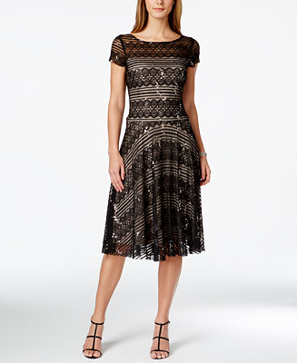 Sangria Sequined Lace Midi Dress Dresses Women Macy S