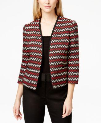 Kasper Petite Zigzag Tweed Jacket