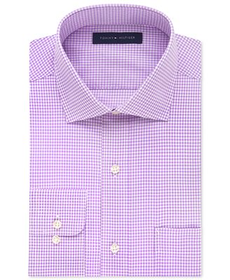 Tommy Hilfiger Classic Fit Non Iron Gingham Dress Shirt