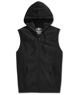 American Rag Mens Fleece Full-Zip Hoodie Vest