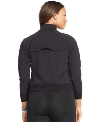 Lauren Ralph Lauren Plus Size Piqué Full-Zip Bomber Jacket