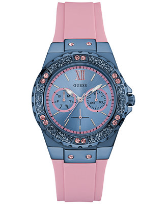 guess s pink silicone 39mm u0775l5