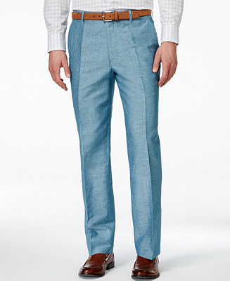 INC International Concepts Men's Neal Linen Pants, Only at ...