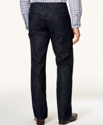 Alfani Straight-Leg Dark Blue Wash Jeans