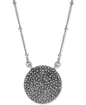 Lucky brand necklace silver tone pave crystal necklace for Macy s lucky brand jewelry