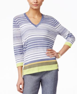 Anne Klein Striped Sweater