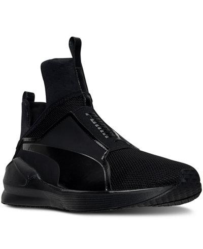 Puma Ladies Mesh Lace Up Shoe Black