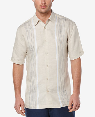 Cubavera Men 39 S Big And Tall Linen Embroidered Short Sleeve