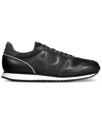 Armani Jeans Mens Logo Mesh Trainers