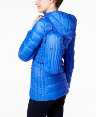 MICHAEL Michael Kors Petite Hooded Packable Down Anorak Puffer Coat