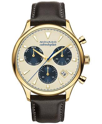 movado s swiss chronograph heritage series calendoplan
