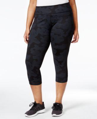 Calvin Klein Performance Plus Size Printed Cropped Leggings