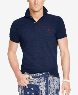 Polo Ralph Lauren Mens Polo Core Solid Classic Fit Mesh Polo