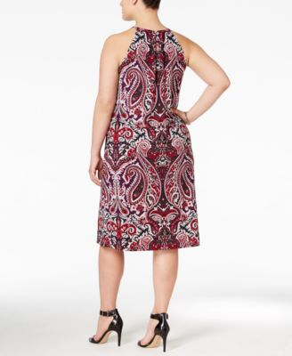 INC International Concepts Plus Size Printed Sheath Dress