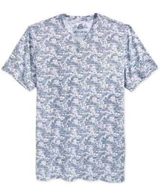 American Rag Mens Printed V-Neck T-Shirt