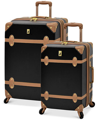 London Fog Retro Hardside Spinner Luggage Luggage