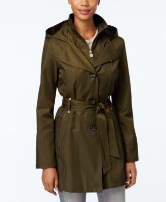 INC International Concepts Hooded Raincoat
