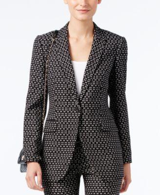 Anne Klein Jacquard One-Button Jacket