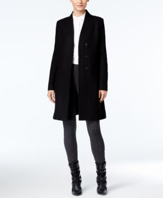 Vera Wang Faux-Fur-Collar Walker Coat