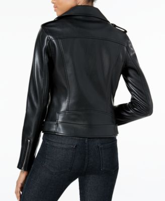 Lucky Brand Faux-Leather Moto Jacket