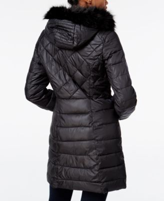 Bar III Faux-Fur-Trim Quilted Puffer Coat