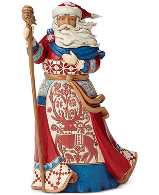 Jim Shore Red And White Lapland Santa Collectible Figurine
