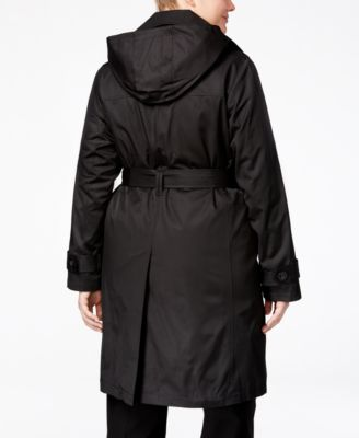 London Fog Plus Size Belted Raincoat