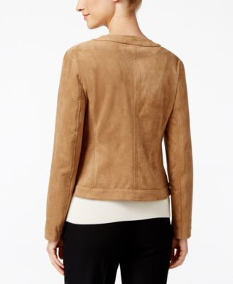 Charter Club Petite Faux-Suede Jacket