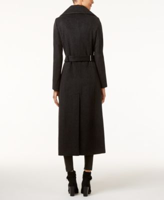 Calvin Klein Wool-Blend Maxi Trench Coat