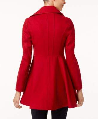 Laundry by Shelli Segal Double-Breasted Skirted Walker Coat