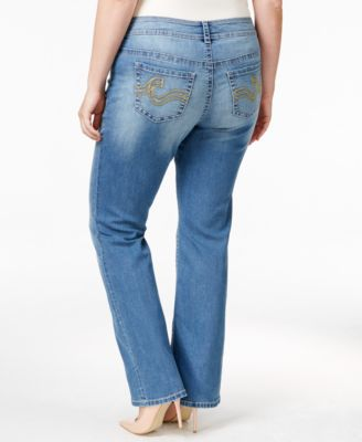 American Rag Trendy Plus Size Starling Wash Bootcut Jeans