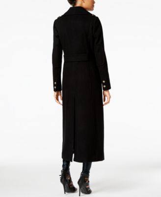 BCBGeneration Double-Breasted Maxi Walker Coat
