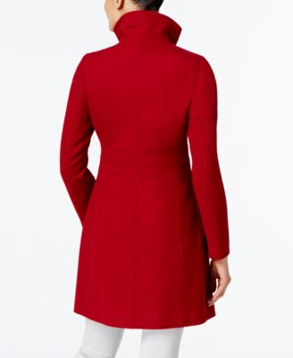 Via Spiga Petite Asymmetrical Buckled Walker Coat