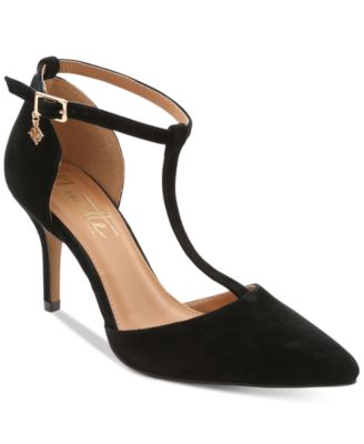 Nanette by Nanette Lepore Sabrina Pointed-Toe T-Strap Pumps