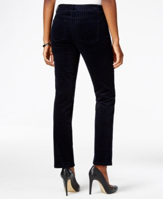 Charter Club Petite Houndstooth Tummy-..
