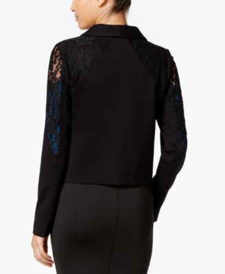 Thalia Sodi Lace-Trim Open-Front Blazer