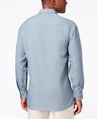 Campia Moda Mens Textured Long-Sleeve ..