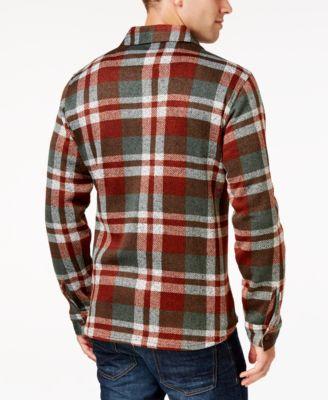 Weatherproof Vintage Mens Plaid Fleece Shirt Jacket