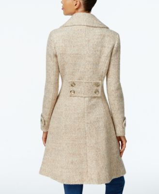 Ivanka Trump Double-Breasted Mélange Peacoat
