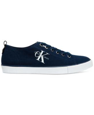 Calvin Klein Mens Arnold Canvas Sneakers