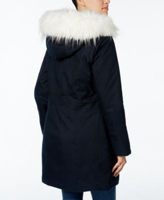 Wildflower Hooded Faux-Fur-Trim Parka