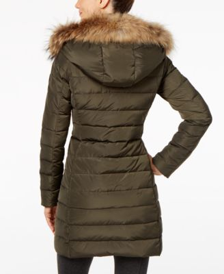 RUD styled by RUDSAK Toreva Asiatic Raccoon-Fur-Trim Puffer Coat