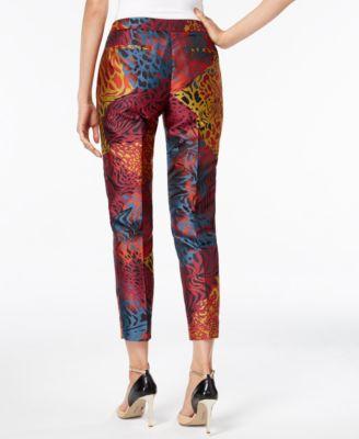 Anne Klein Animal-Print Jacquard Pants