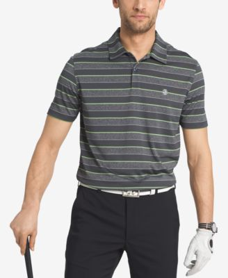 IZOD Mens Performance Striped Golf Polo