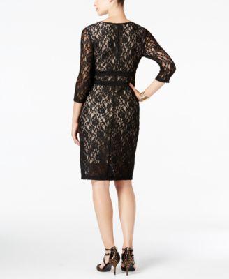 Thalia Sodi Lace Illusion Dress