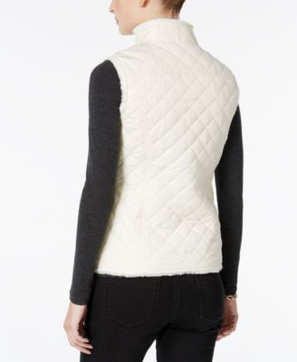 Charter Club Faux-Fur-Lined Puffer Vest