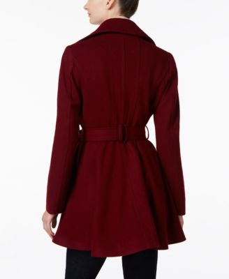 INC International Concepts Belted Skirted Peacoat