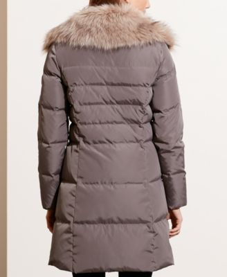 Lauren Ralph Lauren Faux-Fur-Trim Quilted Down Coat